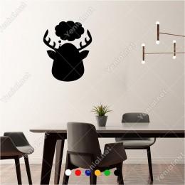 Üzerinde Bulut Olan Düşünceli Geyik 50x60 cm Duvar Sticker