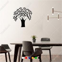 Yaprağı ve Dalı Ayrışan Yaşam Ağacı 60x60 cm Duvar Sticker