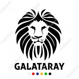 Yeleleli Galatasaraylı Aslan Başı Sticker