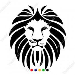 Yeleleri Çizgi Çizgi Detaylı Aslan Başı Sticker