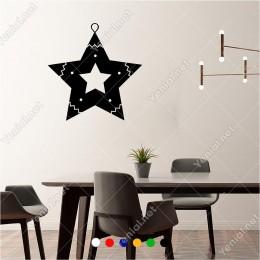 Yıldız İçinde Yıldız Süslemesi 60x60 cm Duvar Sticker Yapıştırma