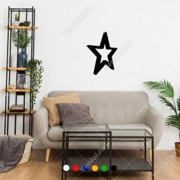 Yön Görünümden Oluşmuş Yıldız Şekli Sticker
