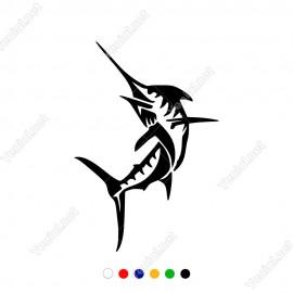 Yukarıya Doğru Atlayan Kılıç Balığı Sticker