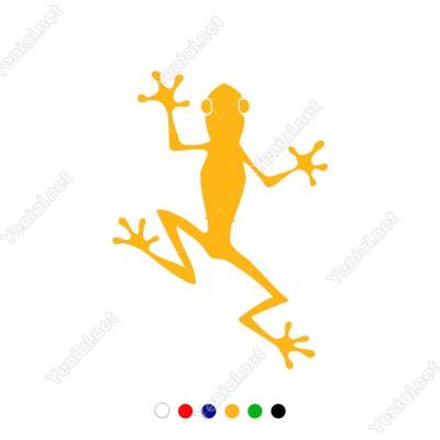 Yukarıya Doğru Giden Sevimli Kurbağa Sticker