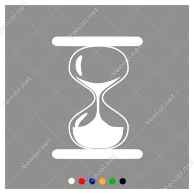 Zamanı Geriye Doğru Saymaya Başlayan Kum Saati Sticker