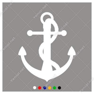 Zincir İle Bağlanmış Deniz Çapası Sticker
