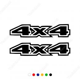 4x4 İçi Boş Yazı Off Road Arabalar İçin Sticker