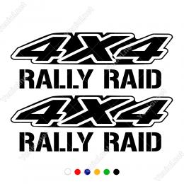 4x4 Off Rally Şablon Fontlu Raıd 2 Adet Yazısı Stickerı