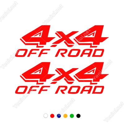 4x4 Off Road Yazısı 2 Adet Sticker Yapıştırma