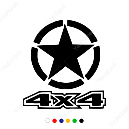 4x4 Yazı Off Road Arabalar İçin Sticker