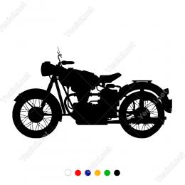 80 li Yılların En Sevilen Noltalji Motoru Duvar Sticker