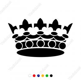 Aksesuarlı Detaylı Kraliçe Tacı Duvar Stickerı