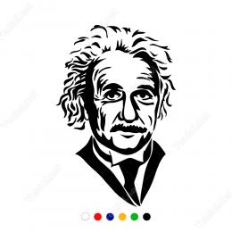 Albert Einstein Potresi Sticker Yapıştırma