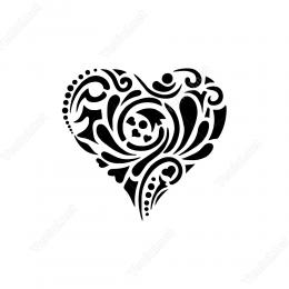 Anadolu Motifi-Kalp Simgesi Etiket Sticker