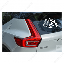 Arabama Dokunma Komik Sticker Çıkartma