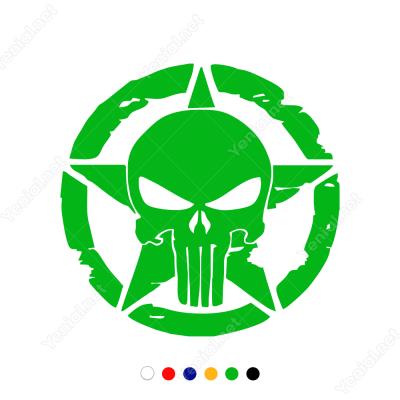 Army Asker Yıldız (Punisher Sticker Decal) Sticker Yapıştırma
