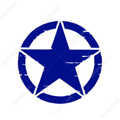 Askeri Yıldız Army Star Off Road Jeep Sticker 2 Adet Sağ Sol Set