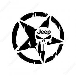 Askeri Yıldız Army Star Off Road 4x4 Jeep Sticker 2 Adet Set