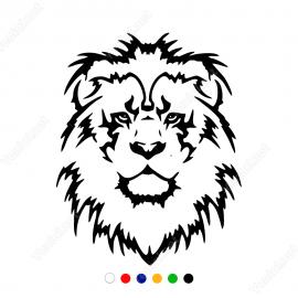 Aslan Başı Sticker Yapıştırma Stiker Yapıştırma