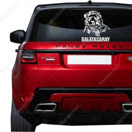 Aslan ve Galatasaray Yazısı Sticker Yapıştırma