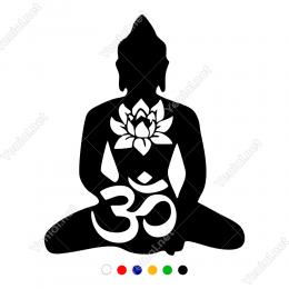 Aum İşareti Ve Yoga Miti Sticker Yapıştırma