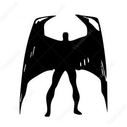 Batman Sticker Etiket Yapıştırma