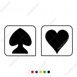Bay Bayan Wc Tabelası Ters Kalp Düz Kalp Sticker