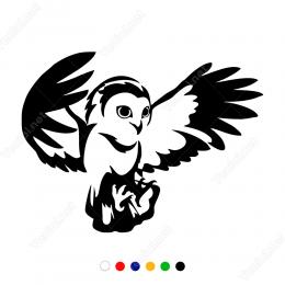 Baykuş Yavrusu İlk Uçuş Sticker Yapıştırma