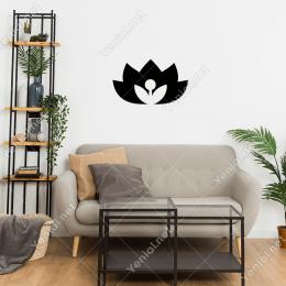 Çiçek Açmış Yeni Orkide Çiçeği Duvar Stickerı