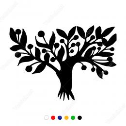 Bol Yapraklı Zeytin Ağacı Sticker Yapıştırma
