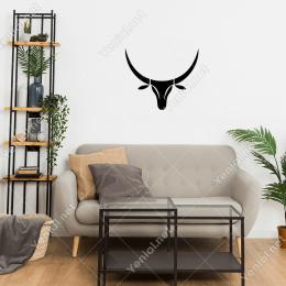 Boynuzlu Geyik   Duvar Stickerı