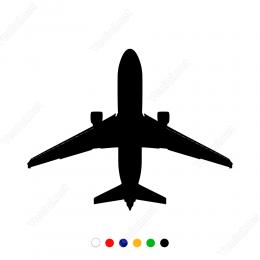 Büyük Yolcu Uçağı Sticker Yapıştırma