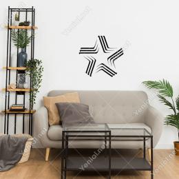 Çerçevesi Üç Çizgi Oluşmuş Army Yıldız Duvar Stickerı