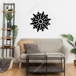 Çeşitli Simgelerden Oluşmuş Desen Motif Duvar Stickerı