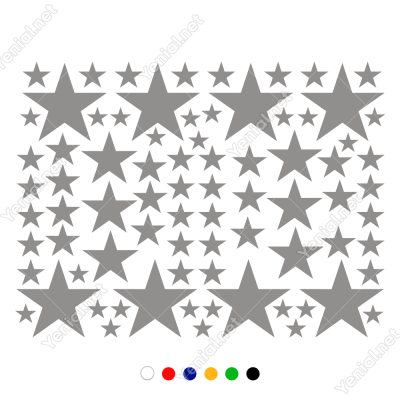 Çoçuk Odası ve Oda Süslemeleri İçin 78 Adet Yıldız Sticker