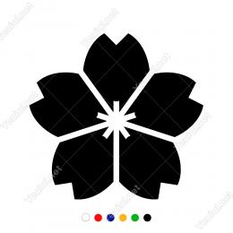Dört Yapraklı Yarı Kalp Şeklinde Menekşe Duvar Stickerı