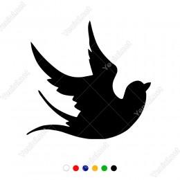 Göçmen Kuşlardan Sındı Kuyruk Kuşu Sticker
