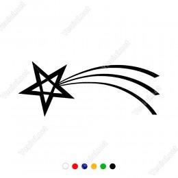 Havadan Hızlı Şekilde Düşen Kayan Yıldız Sticker
