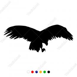 Havadan Uçarak Avını Gözetleyen Kartal Duvar Stickerı