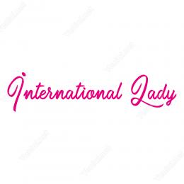 International Lady Yapıştırma Etiket