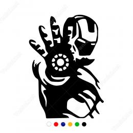 İron Man Potresi Sticker Yapıştırma