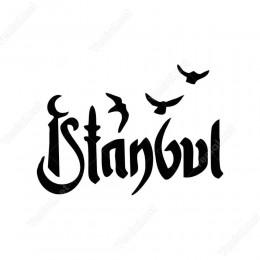İstanbul Yazısı Kaligrafi Etiket Sticker