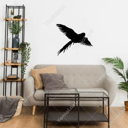 Kanatları Açık Uçan Zümrüdü Anka Kuşu Duvar Stickerı