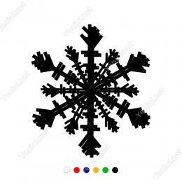 Kar Tanesi Detaylı Simge Duvar Stickerı