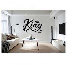 King Kral Tacı ve Yazısı Sticker Yapıştırma