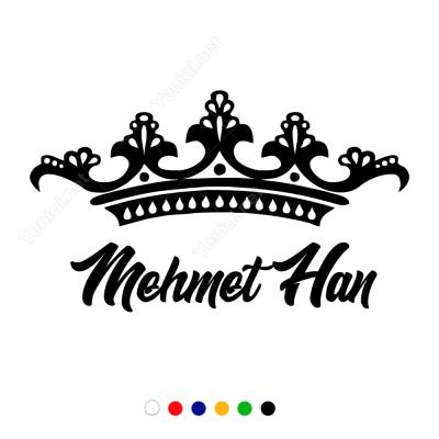 Kral Tacı Kişiye Özel İsimli Sticker Yapıştırma