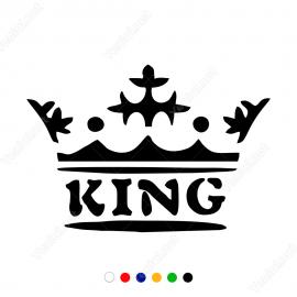 Kral Tacı Ve King Yazısı Sticker Yapıştırma