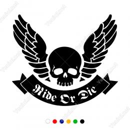 Kuru Kafa Ölüm Meleği Sticker Yapıştırma