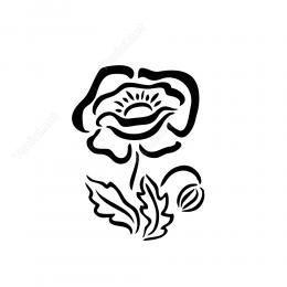 Menekşe Çiçeği Etiket Sticker