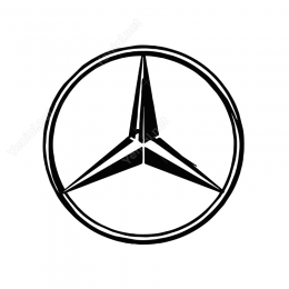 Mercedes Logo Sticker Yapıştırma Etiket
